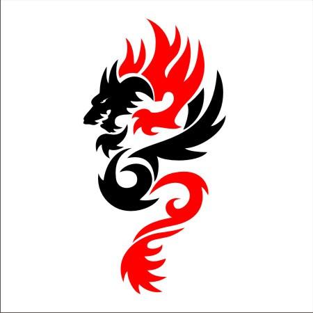 Tribal Dragon 7 Two Color Immortal Graphix