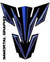 Suzuki Blue Black Tank Pad