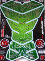 X Series Green Tribal with Chrome Outllines Tank Pad