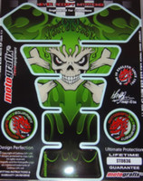 Green Flame Skull Pad Tank Pad