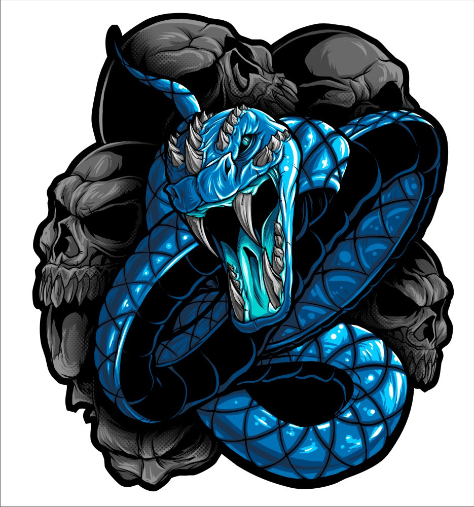 Snake blue vinyl decal graphic these stickers are laminated and cut to the exact shape loading zoom hover over image to zoom snake blue vinyl decal