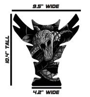 Large Venom Snake Gray Motorcycle Tank Pad Protector
