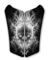 Can AM Spyder RS Exploding SKull Black Motorcycle Tank pad