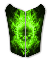 Can AM Spyder RS Exploding SKull Green Motorcycle Tank pad