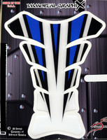 Razor Spear Blue White Motorcycle Tank Pad Protector