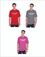 Youth and Adult T shirt with Lettering 100% polyester