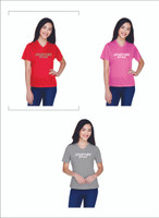 Women's  T with  Lettering 100% Polyester