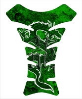 Dragon Grunge V2 Green Motorcycle 3D Gel Tank Pad Protector