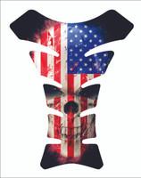 USA American Skull 3D Gel  Motorcycle Gas Tank Pad Protector