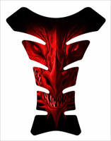 Dragon Face Red Motorcycle Tank Pad Protector