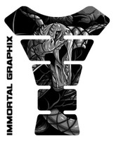 Venom Snake Gray Motorcycle Tank Pad Protector