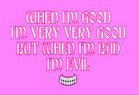 Good and Evil Fitted T-Shirt