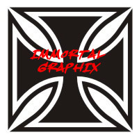 Maltese Cross Decal #4-2