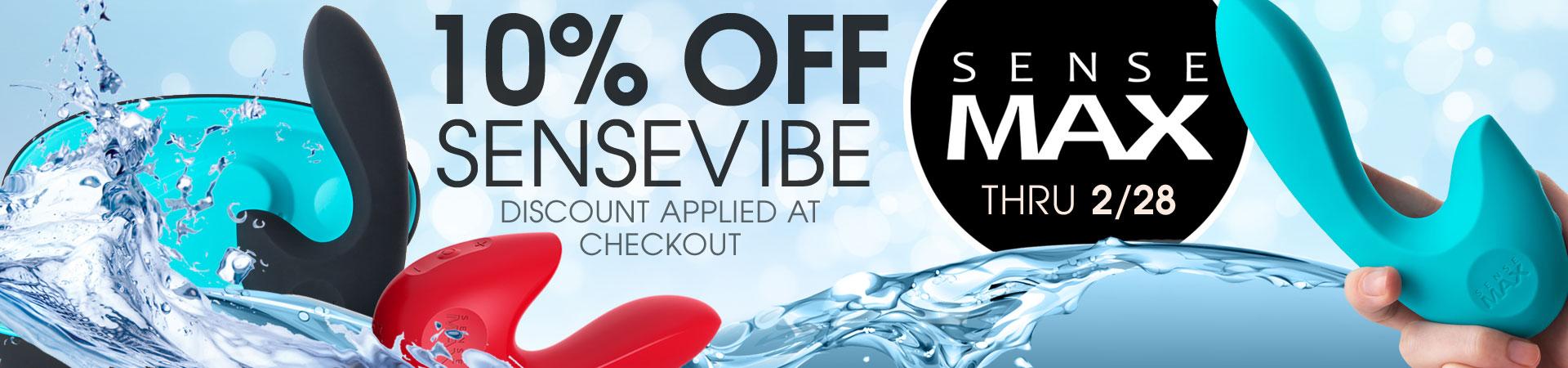 10% Off SenseMax - Now Thru 2/28 - Discount Applied At Checkout
