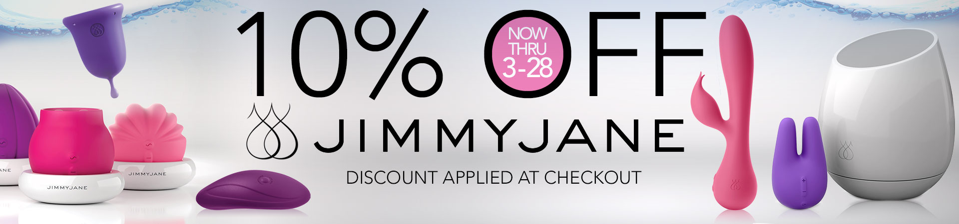 Save 10% On All Jimmyjane Pleasure Toys - Now Thru March 28Th! Discount Applied At Checkout
