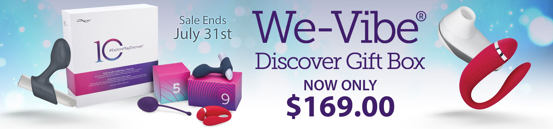We-Vibe Discover Gift Box Now Only $169.00 - Ends July 31st
