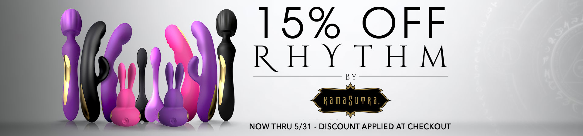 15% Off Kama Sutra Rythym Vibes - Now Thru 5/31 - Discount Applied At Checkout