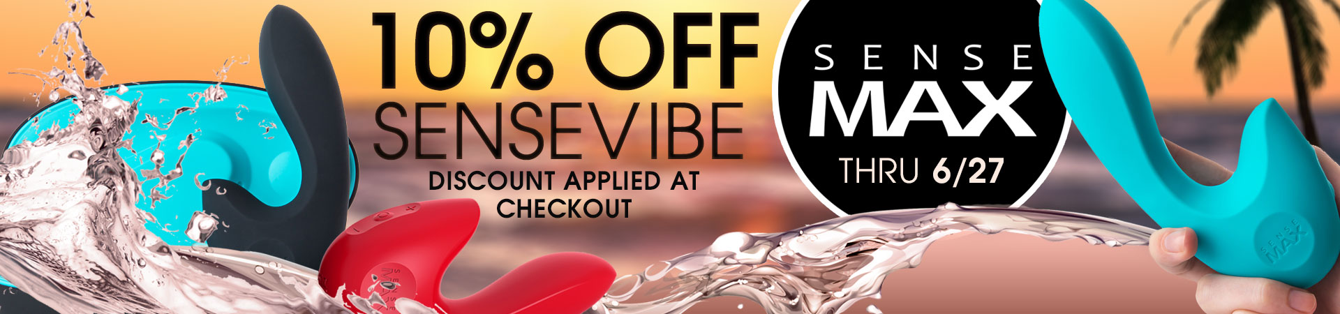 SAVE 10% On SENSEVIBE By SenseMax Thru June 27th! Discount Applied At Checkout.