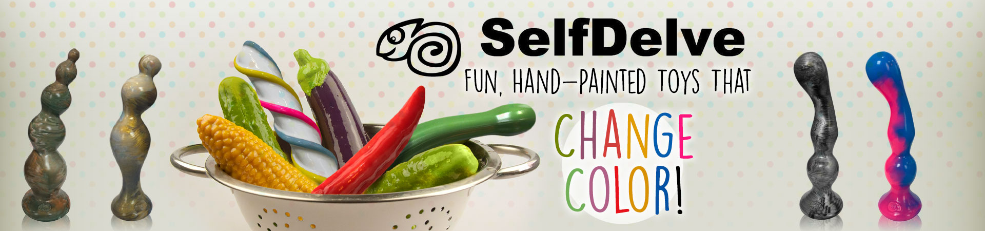 Spotlight on SelfDelve - Fun, Hand-Painted Toys Chat Change Color!