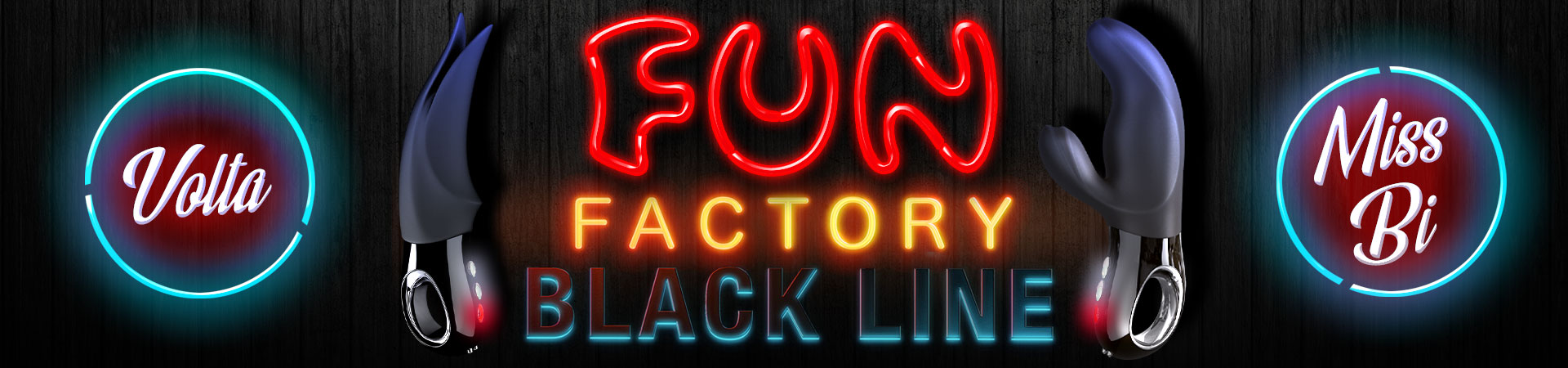 New From The Fun Factory Black Line, Miss Bi & Volta!