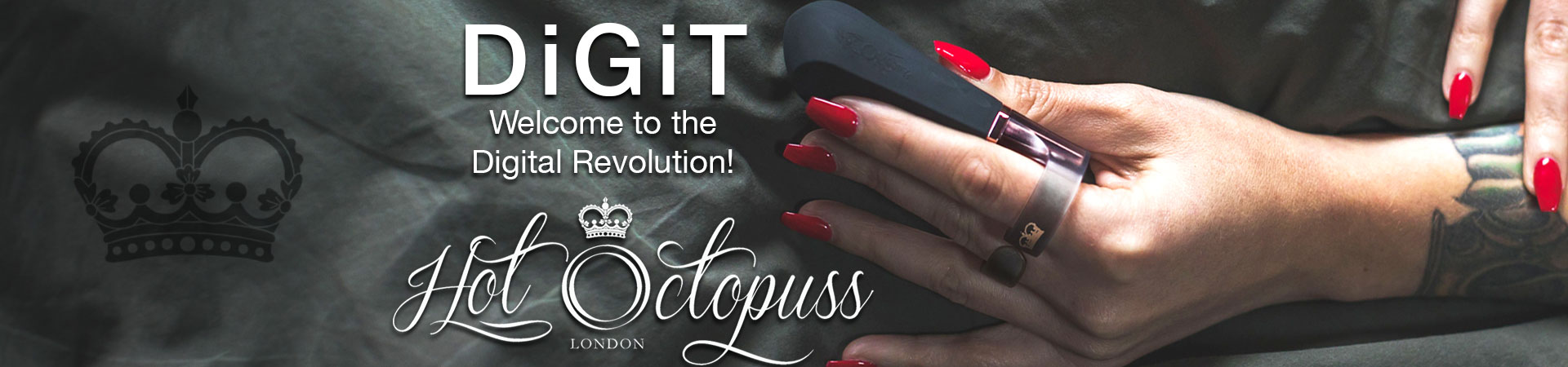 New At SheVibe! The Hot Octopuss Digit Finger Vibe
