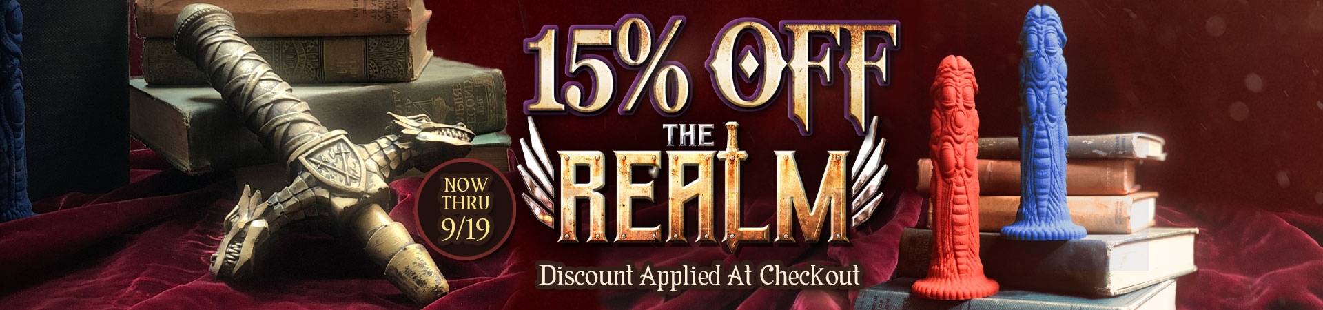 Get 15% Off The Realm - Now Thru 9/19 - Discount Applied At Checkout