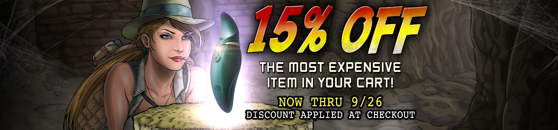 15% Off Most Expensive Item In Your Cart - Now's The Time To Get The Toy You've Been Lusting After!