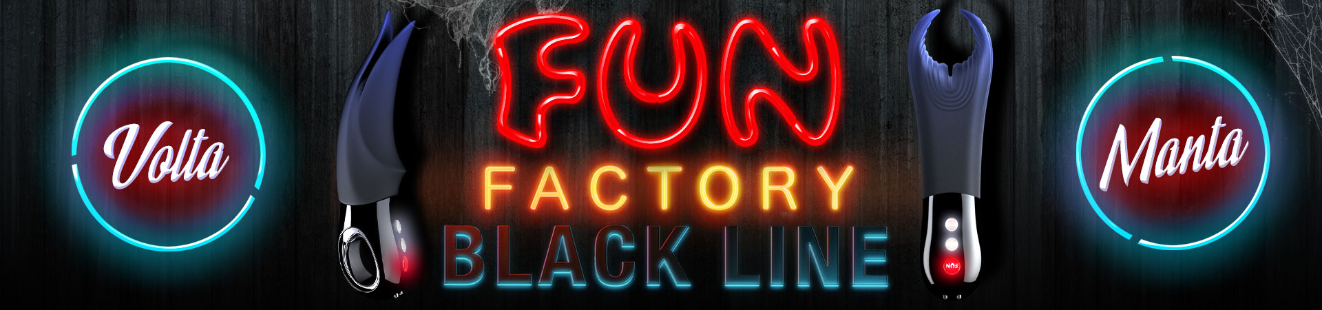 FUN FACTORY MANTA & VOLTA - New to the Fun Factory Iconic Black Line - Manta and Volta