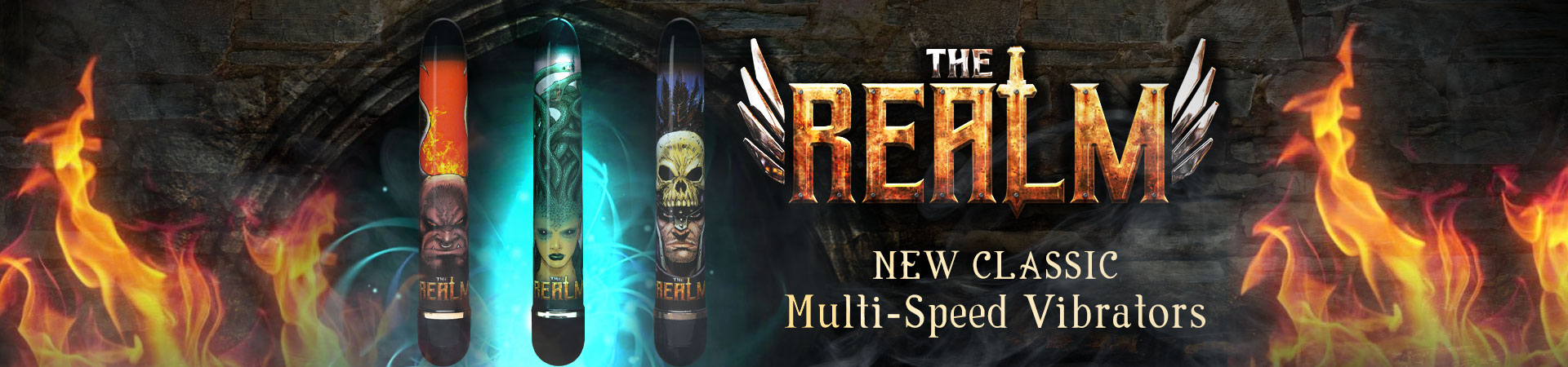 New! The Realm Classic Multi-Speed Vibrators