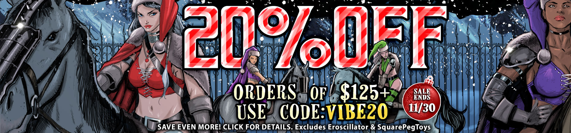 20% OFF ORDERS OF $125+ USE CODE: VIBE20