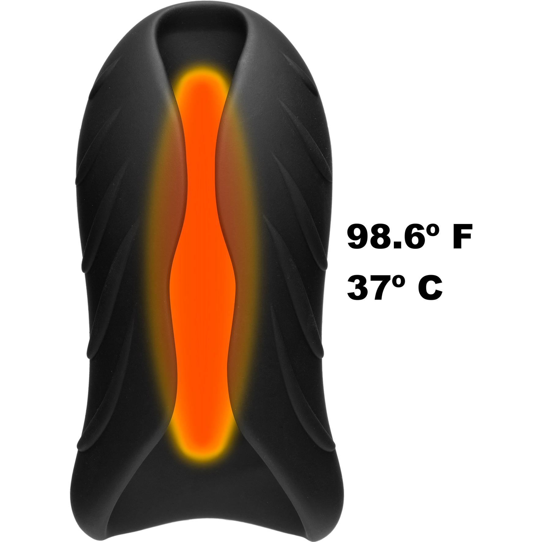 OptiMALE SECONDSKYN Silicone Warming Stroker - Warming