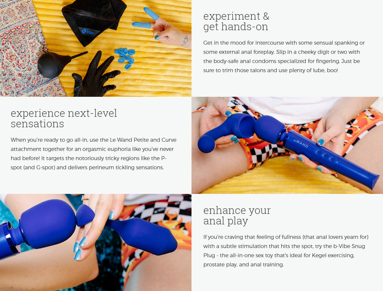 b-Vibe Anal Massage & Education Set With Le Wand, Educational Guide & Snug Plug 2 - Info Banner