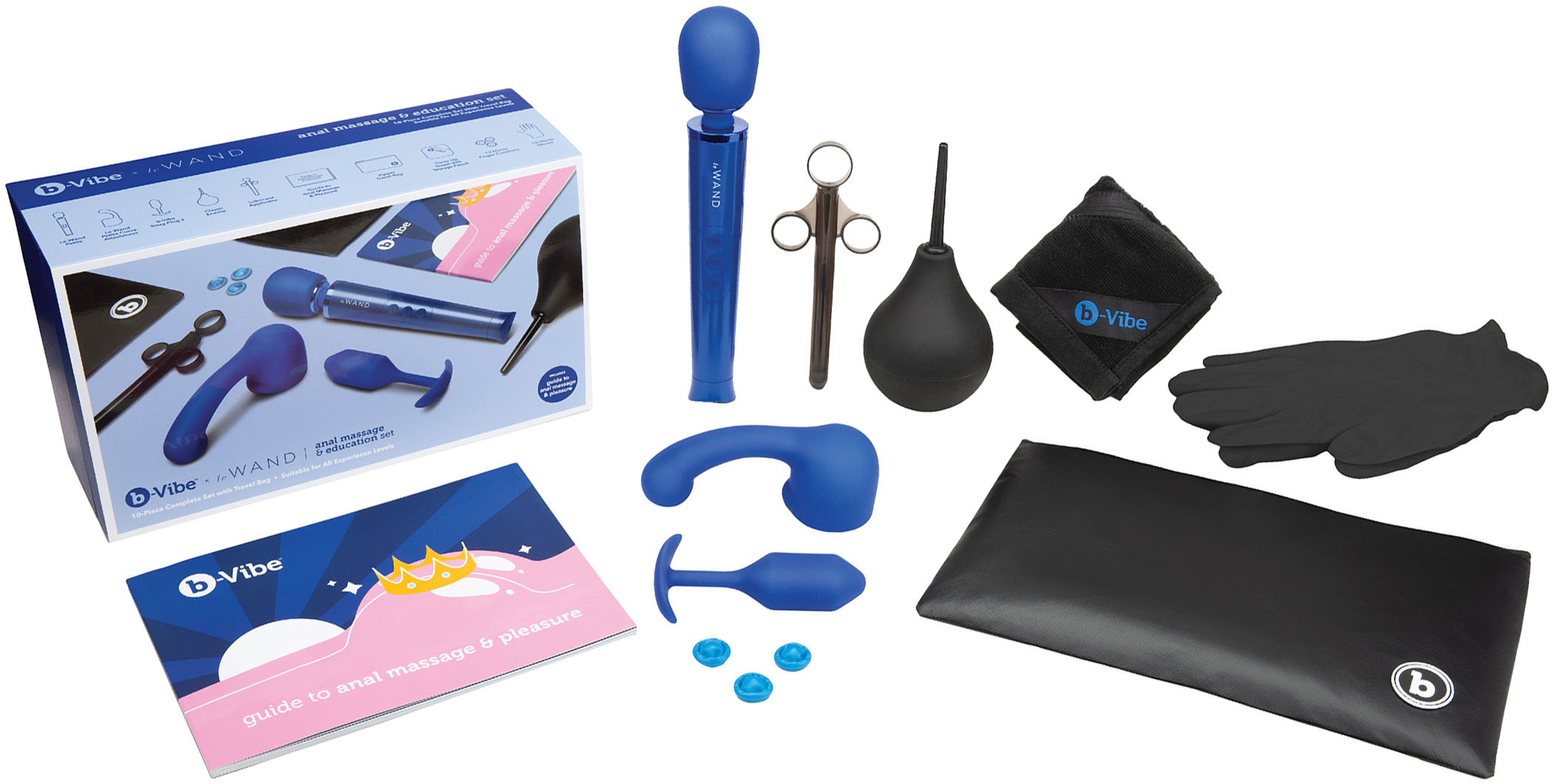 b-Vibe Anal Massage & Education Set With Le Wand, Educational Guide & Snug Plug 2 - What's Included?