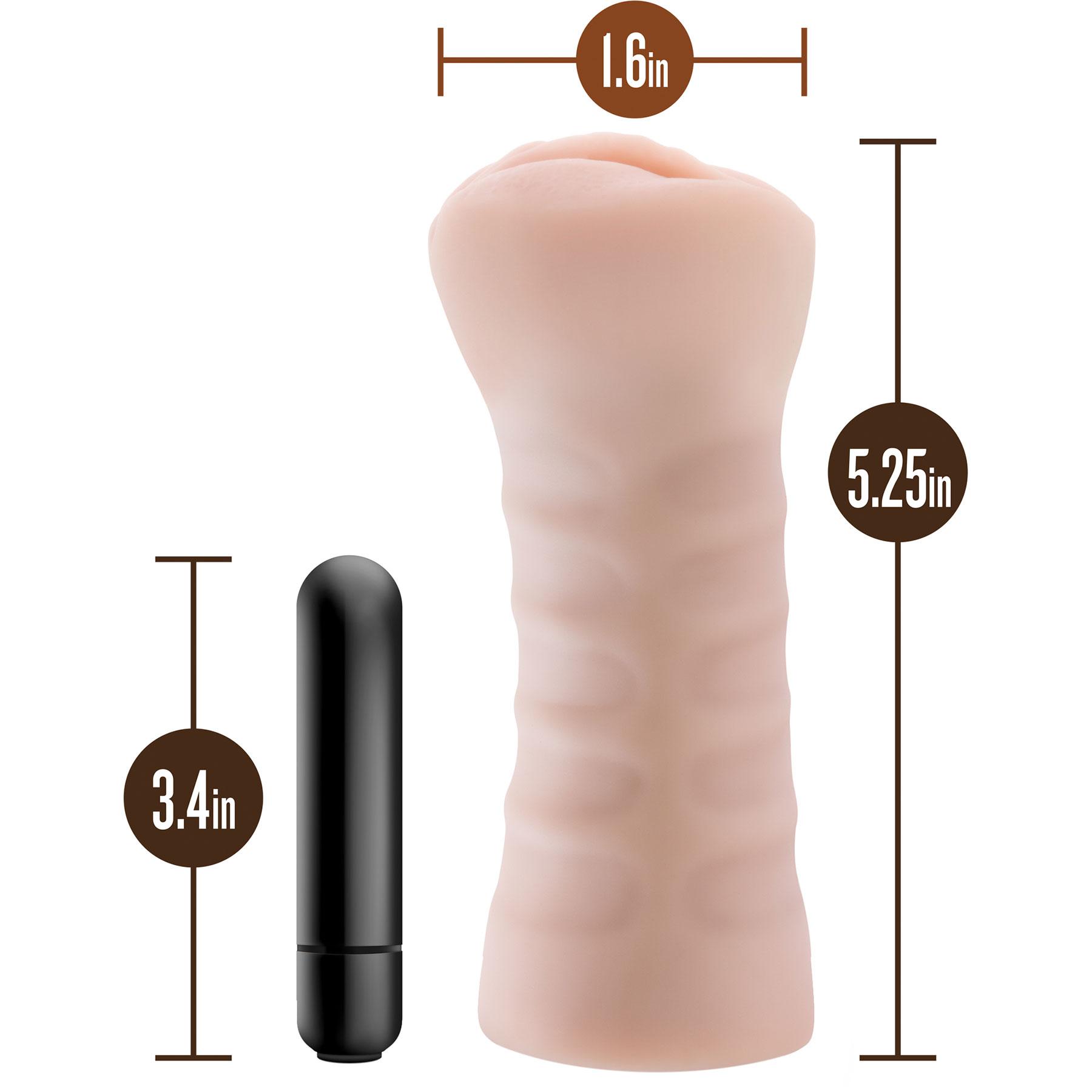 M for Men Ashley Penis Masturbator - Measurements