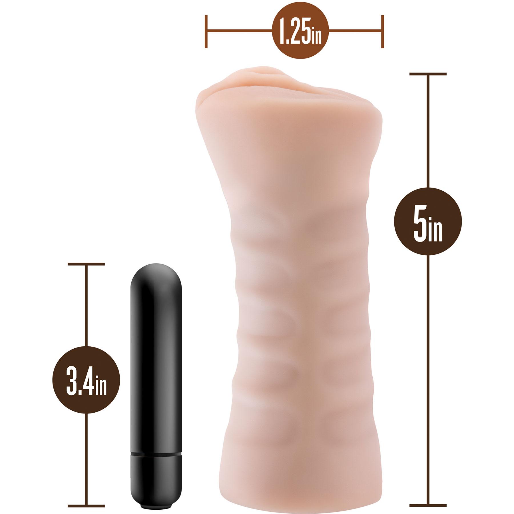 M for Men Rain Penis Masturbator - Measurements