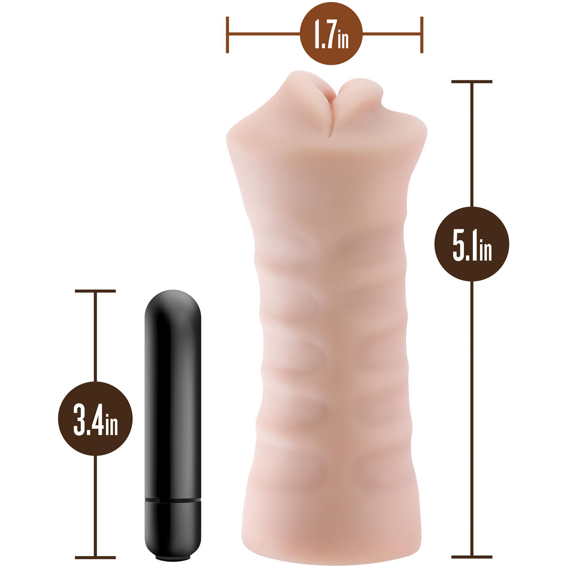 M for Men Angie Penis Masturbator - Measurements