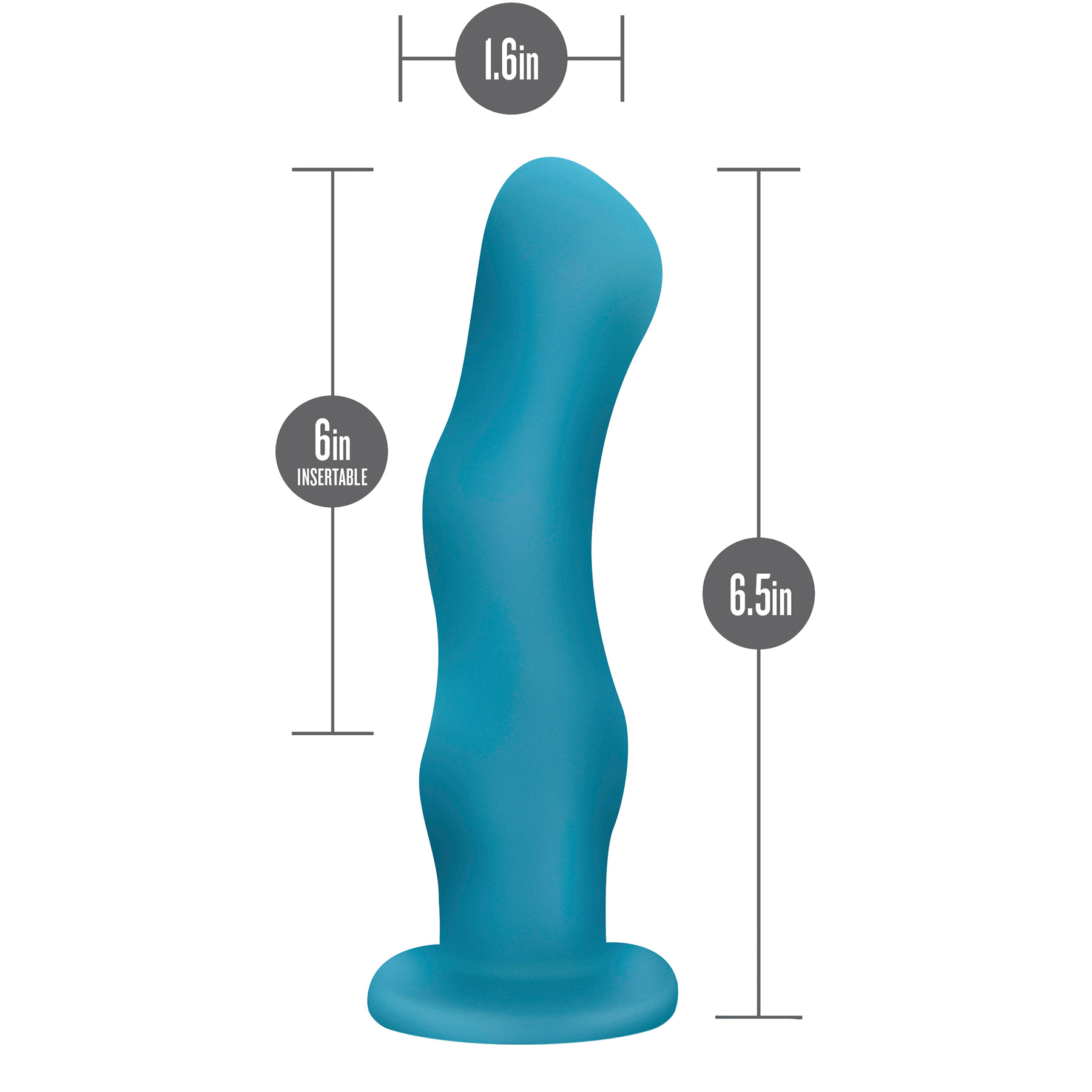 Impressions N3 Silicone Suction Cup G-Spot Vibrator - Measurements