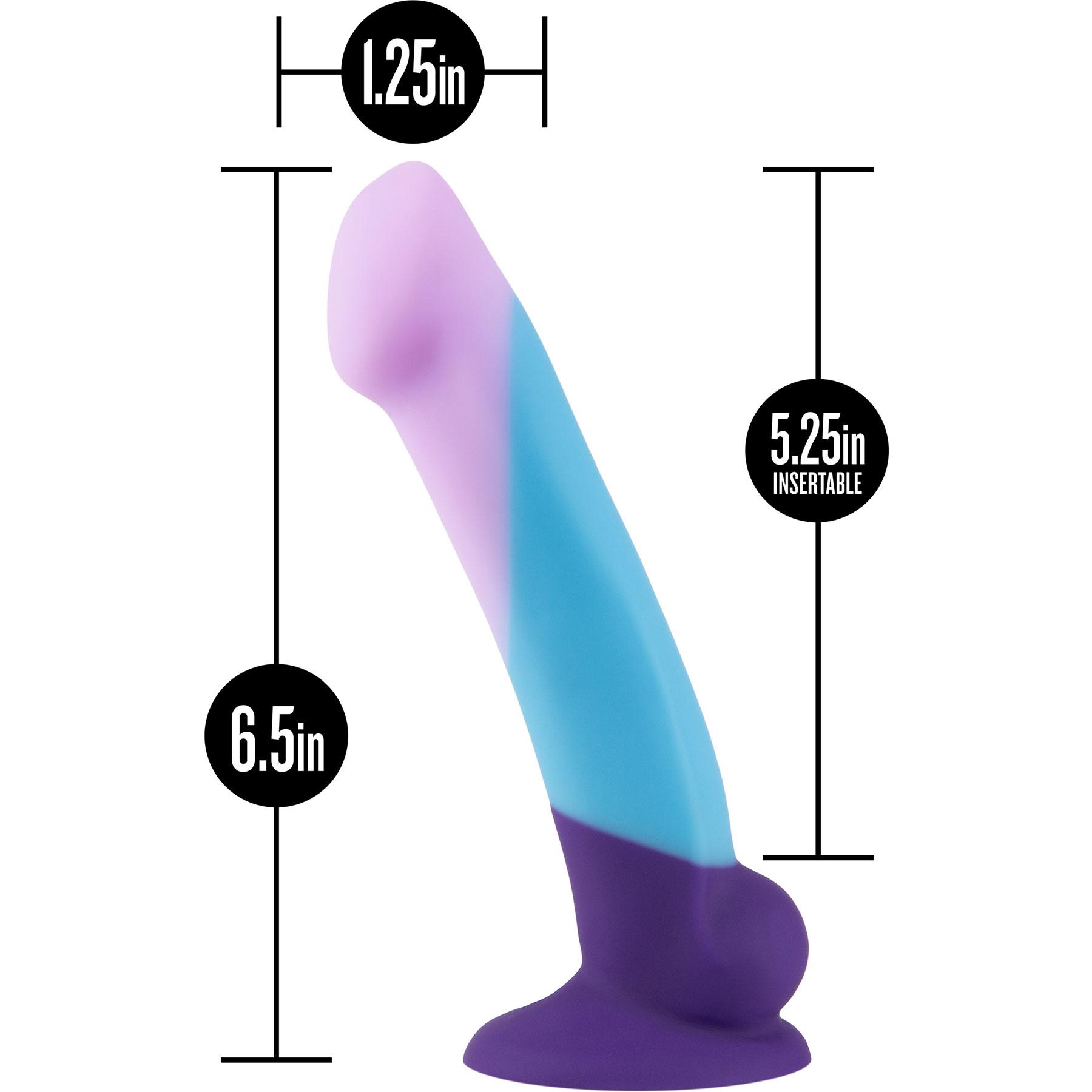 Avant D16 Purple Haze Silicone Suction Cup Dildo - Measurements