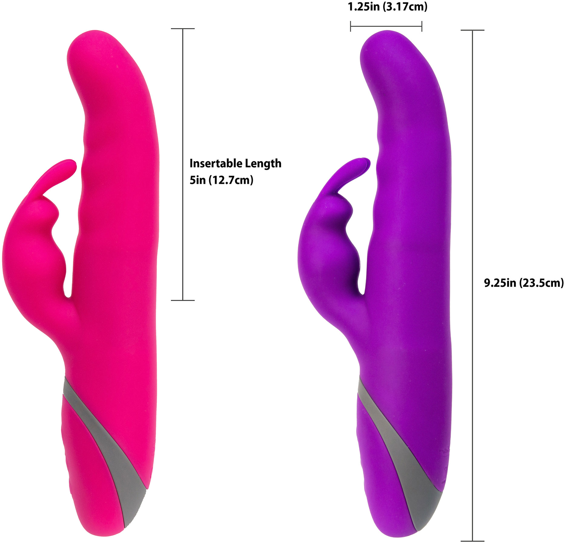 Commotion Cha Cha Silicone Waterproof Rechargeable Dual-Stimulation Vibrator - Functions
