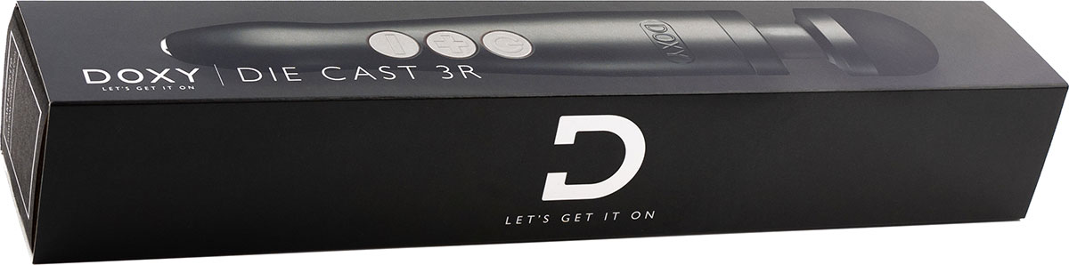 Doxy Number 3R Rechargeable Aluminum Extra Powerful Massage Wand Vibrator - In The Box