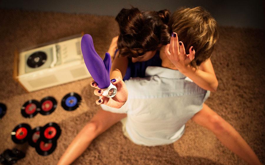 LADY BI Silicone Dual Stimulation Vibrator