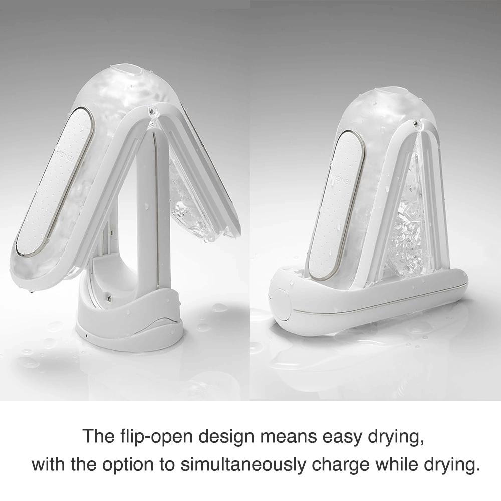 Tenga Flip 0 (Zero) EV Vibrating Penis Masturbator - Drying