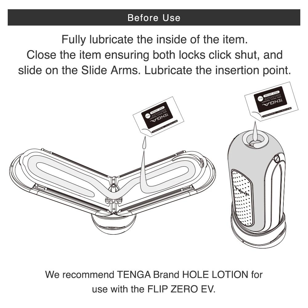 Tenga Flip 0 (Zero) EV Vibrating Penis Masturbator - Lube It Up