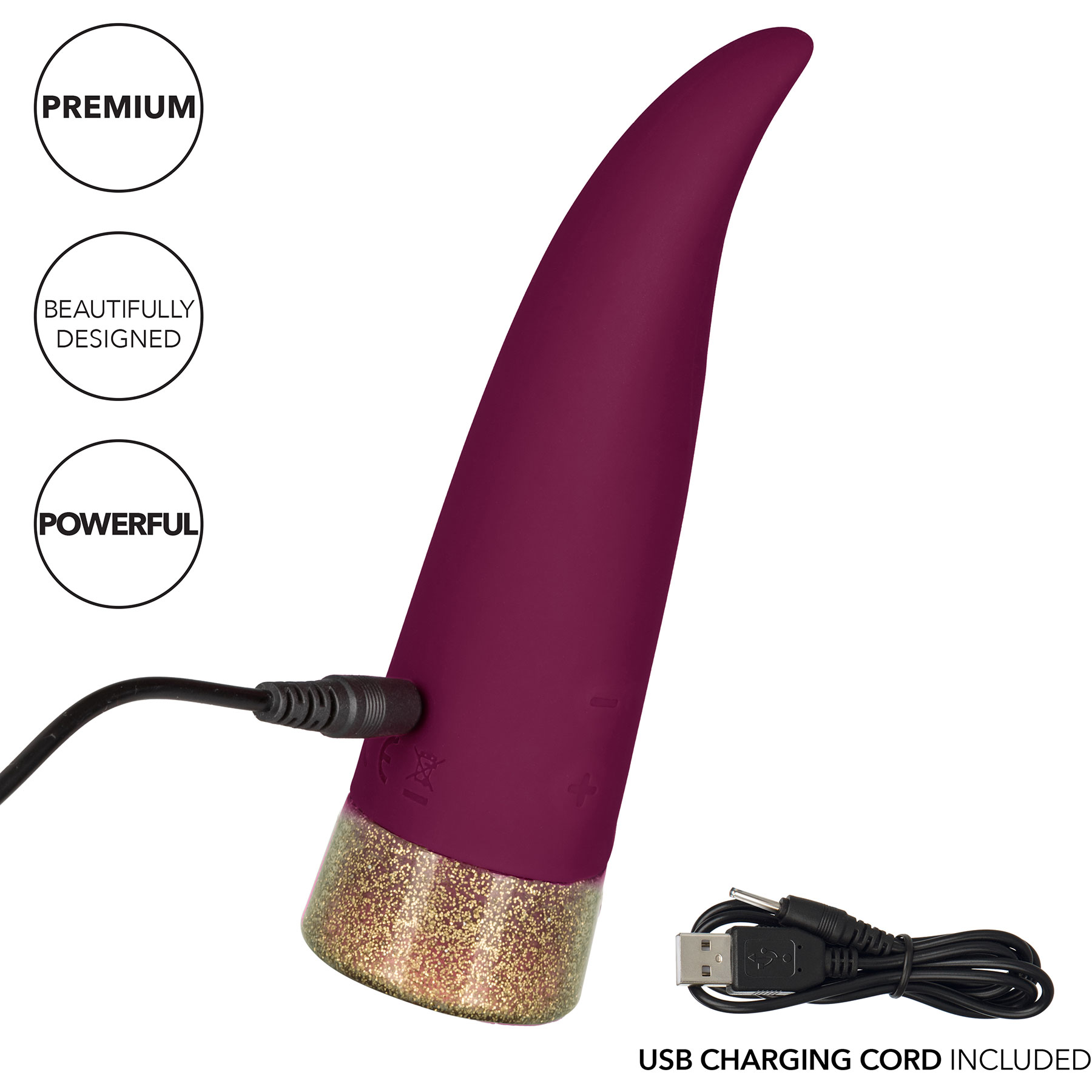 Starstruck Fling Waterproof Rechargeable Silicone Clitoral Vibrator - Charging
