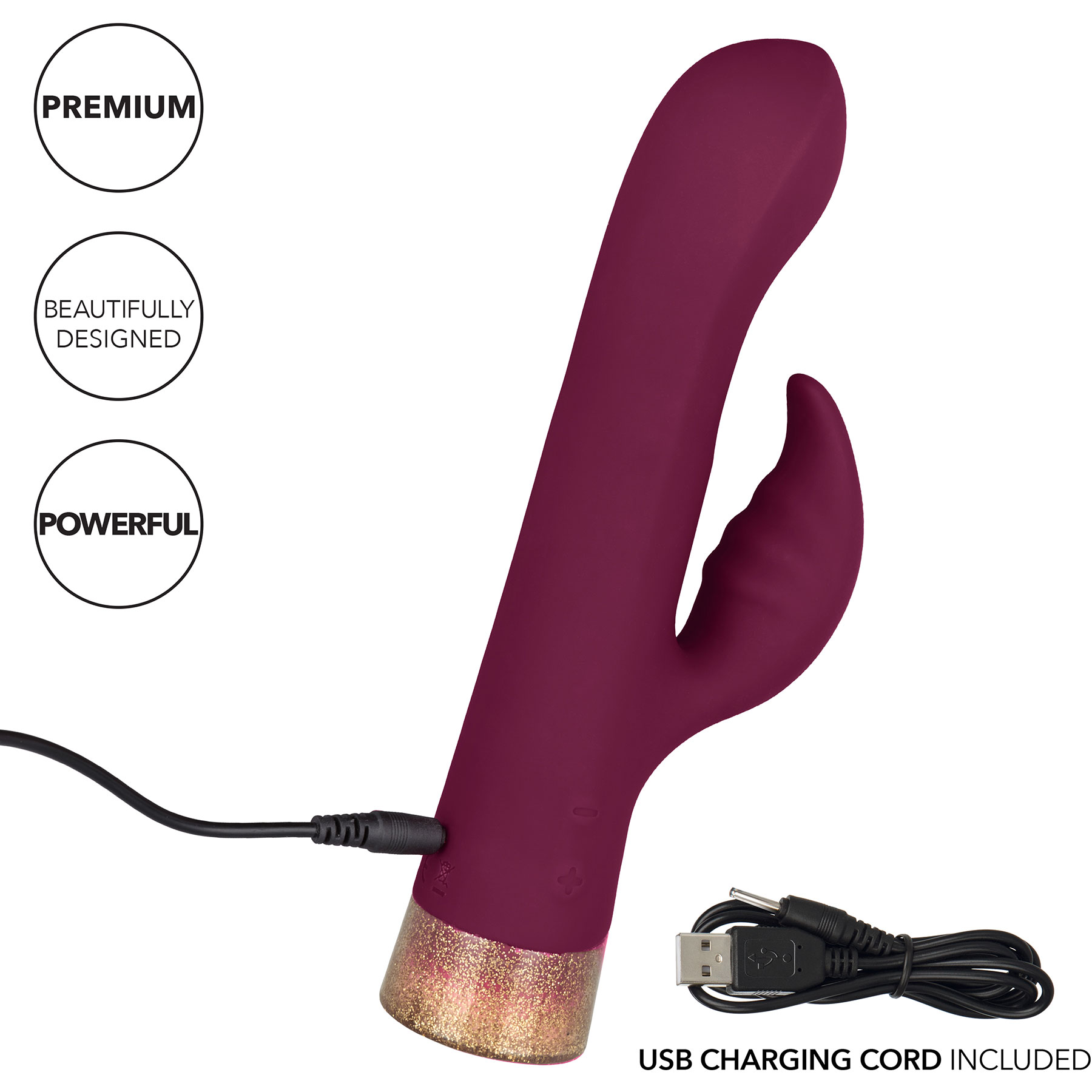Starstruck Affair Waterproof Rechargeable Silicone Rabbit Style Vibrator - Charging