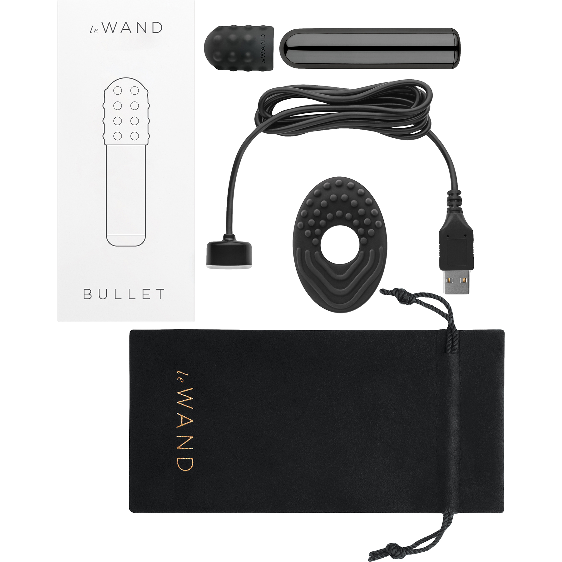 Le Wand Bullet Mini Powerful Waterproof Rechargeable Vibrator - Box Contents