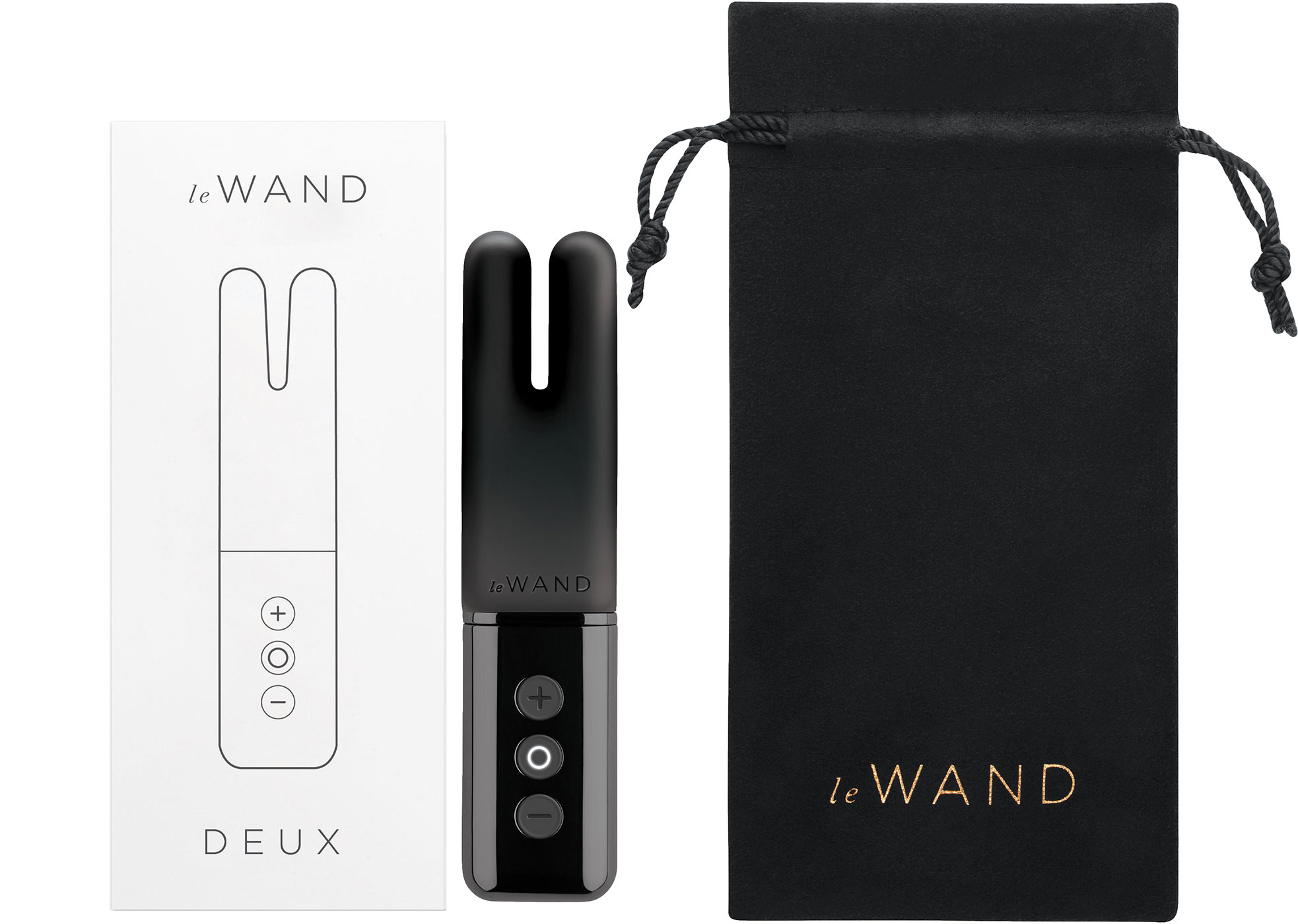 Le Wand Deux Powerful Twin-Motor Waterproof Rechargeable Vibrator - Box Contents