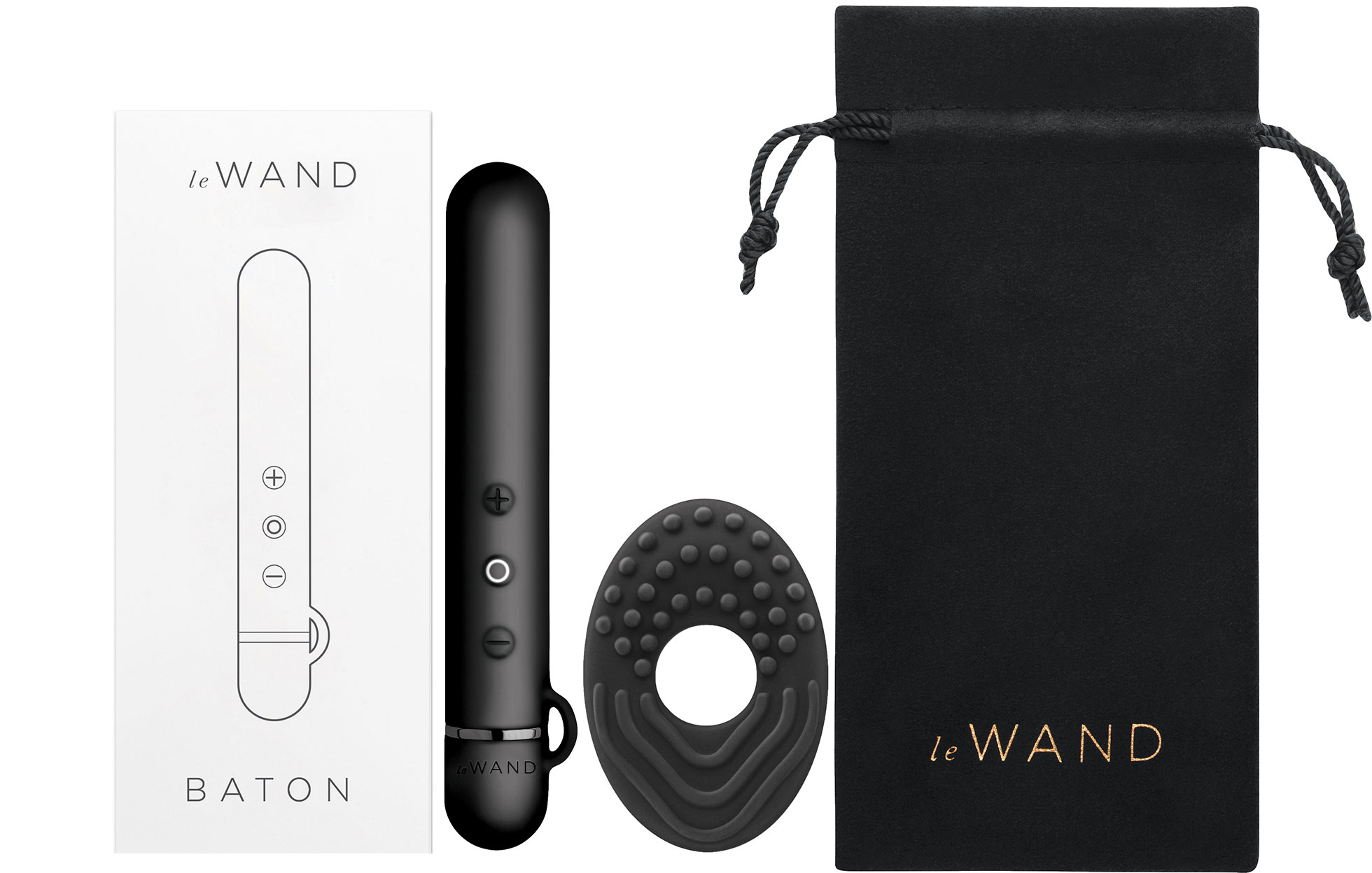 Le Wand Baton Powerful Waterproof Rechargeable Vibrator - Box Contents