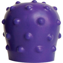 Pleasure Works Pop Top Nubby Purple Silicone Wand Attachment