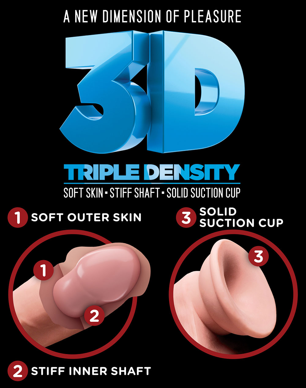 King Cock Plus Triple Density 3D Graphic